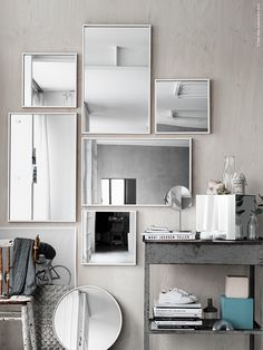 Ikea mirror wall collection of mirrors
