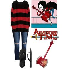 Adventure Time's Marceline Outfit, created by scenequeen10000 on Polyvore