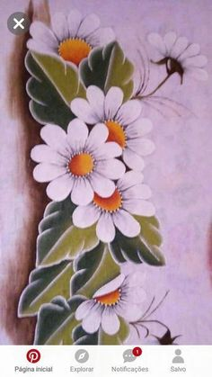 - MyKingList.com One Stroke Painting, Tole Painting, Fabric Painting, Donna Dewberry Painting, Painted Rocks, Hand Painted, Fabric Paint Designs, Watercolor Flowers, Machine Embroidery Designs