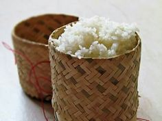 Sticky rice. Lao people can't live without it.