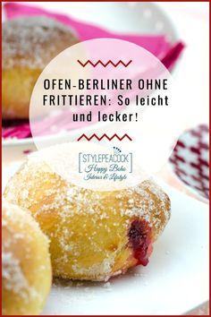 Das weltbeste Berliner Pfannkuchen, Kreppel oder Krapfen Rezept, egal. wie man sie nennt: Bei mir gibt's die fettarme Variante ohne Frittieren. Einfach zu machen, mit besonderem Vanille-Himbeer-Aroma und so lecker. Mit genauer Anleitung für Hefeteig. Nachbacken und genießen, ob zum Kaffee, Party, Karneval / Fastnacht oder zu jeder anderen Jahreszeit! #kreppel #ofenberliner #berlinerpfannkuchen #krapfen #backrezept #berliner #fastnacht #karneval #vanille #himbeer #raspberry #hefeteig Cantaloupe, Lifestyle Blog, Frosting, Fruit, Decoration, Cake, Tips, Food, Gourmet