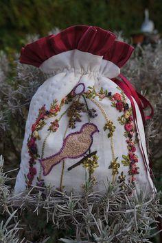 Beautiful embroidery - Oiseau en cage by Les photos de Vero, via Flickr