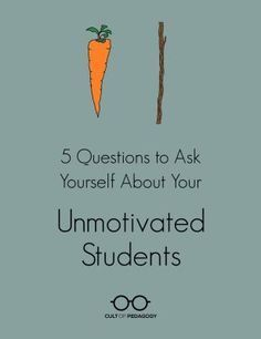 5 Questions to Ask Yourself About Your Unmotivated Students - If we know what works to motivate students, why are so many students still unmotivated? These five questions will help you determine if your practice is really in line with research. Student Behavior, Classroom Behavior, School Classroom, Classroom Management, Behavior Management, Classroom Libraries, Classroom Ideas, Classroom Consequences, Classroom Discipline