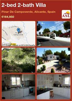 2-bed 2-bath Villa in Pinar De Campoverde, Alicante, Spain ►€164,950 #PropertyForSaleInSpain