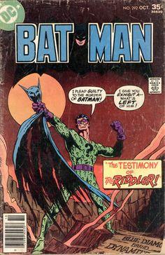 """Where Were You on the Night Batman Was Killed?"" Batman October 1977 to December covers by Jim Aparo and Tatjana Wood Dc Comics, Batman Comics, Robin Comics, Batman Comic Books, Comic Books Art, Comic Art, Book Art, Vintage Comic Books, Vintage Comics"