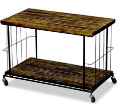 Whole House Worlds The Urban Chic TV Multi-Media Cart Stand with 2 Shelves, Castor Wheels, Black Metal and Sustainable Wood Shelves, 30 L x 17 W x 20 ½ H inches, By WHW Coffee Tables For Sale, Rustic Coffee Tables, Greenhouses For Sale, Best Grow Lights, Cheap Greenhouse, Retro Desk, Luxury Home Furniture, Accent Furniture, Furniture Ideas