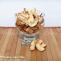 Chips de Maçã na AirFryer - Fritadeira sem Óleo - AirFryer