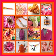 Strawbery-Orange Sorbet by funnfiber on Polyvore featuring vintage