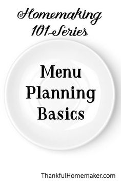 Meal planning can help to destress our days and help us form a better homemaking routine. Planning ahead of time allows us to organize our weeks and be able to plan events and outings. Do you know how to menu plan? Check out the very basics of menu planning at Thankful Homemaker Blog! #homemaking #homemakinghelp #menuplanning #mealplanning #homemakingtips #planningmeals #dinnerplans Freezer Meals, Easy Meals, Christian Homemaking, Marriage Help, Destress, What Inspires You, Menu Planning, Healthy Living, Encouragement