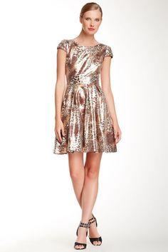 Betsey Johnson Metallic Party Dress  Save 80%