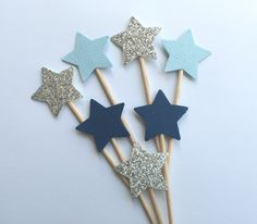 Small Star Cupcake Toppers