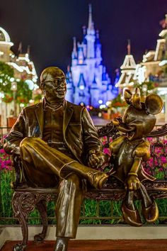 Roy Disney and Minnie Mouse