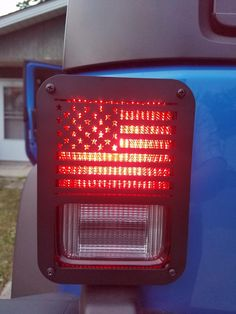 """Jeep Wrangler Accessories - """"American US Flag"""" Tail Light Covers for 2007-2018 Jeep Wrangler JK 2 door and Unlimited JKU 4 door Jeep Wrangler Lights, Jeep Wrangler Tj, C10 Chevy Truck, Chevy Trucks, Jeep Wrangler Accessories, Light Covers, Wedding Humor, Tail Light, Travel Quotes"""