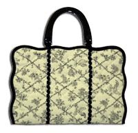 Quilted Toile placemat purse