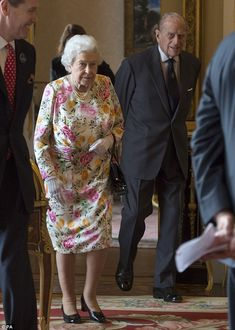 The monarch and husband Prince Phillip welcomed guests to the annual Queen's Awards for Enterprise which are the UK's most prestigious awards for business success