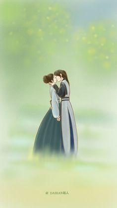 Merrp it makes my hearteu ache Cute Couple Drawings, Cute Couple Art, Anime Love Couple, Couple Cartoon, Fanart, Moon Lovers Drama, Scarlet Heart Ryeo Wallpaper, Kdrama, Goblin Art