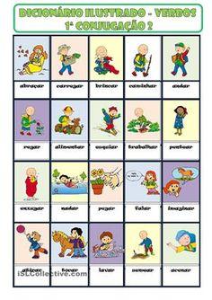 Trata-se de um dicionário ilustrado de verbos da 1ª conjugação para alunos de Português Língua não materna. - Apostilas