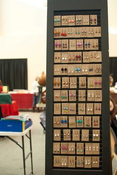 Earing display for a craft show.