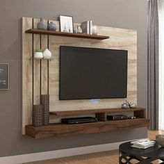 Good Housekeeping Mantra: 60 TV Wall Units To Organize And Stylize Your Home Modern Tv Unit Designs, Living Room Tv Unit Designs, Modern Tv Wall Units, Modern Tv Room, Tv Unit Decor, Tv Wall Decor, Tv Cabinet Design, Tv Wall Design, Tv Unit Interior Design