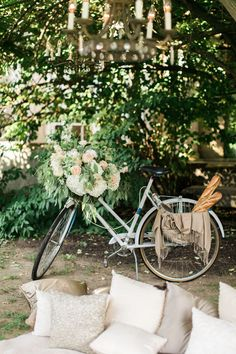 Garden Party Decorations, Wedding Decorations, Table Decorations, Garden Parties, Clapham Common, Bicycle Bell, Fantasy Wedding, Vintage Glam, Father Of The Bride