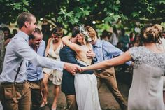 A Greek #wedding #reception features tons of dancing and a plate smashing.