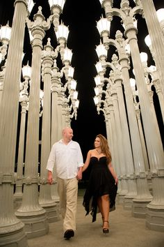 Lacma Museum, Romantic Moments, Light Installation, Engagement Pictures, Happily Ever After, More Photos, Photo Shoot, In This Moment, Street