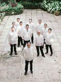Groom Guide: How to Look Good in a Barong Tagalog Barong Tagalog Wedding, Barong Wedding, Filipiniana Wedding Theme, Khmer Wedding, Wedding Attire, Groomsmen Looks, Groom And Groomsmen Attire, Bridesmaids And Groomsmen, Wedding Prep