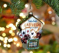 Las Vegas Sign Glass Ornament #potterybarn