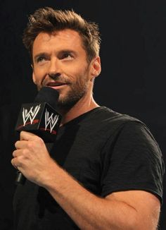 Hugh Jackman-The Wolverine at a WWE wrestling. Hugh Jackman, Hugh Michael Jackman, Hot Actors, Actors & Actresses, Hugh Wolverine, Sydney, The Greatest Showman, My Guy, Good Looking Men