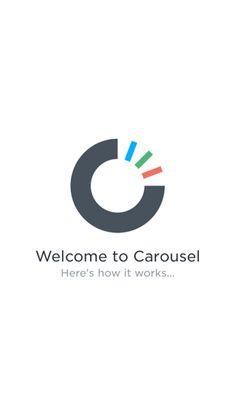 Carousel iPhone walkthroughs, sign up flows screenshot