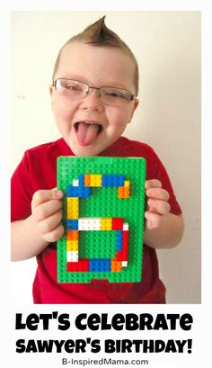 Sawyer's Lego Birthday Party Invitation at B-Inspired Mama- lots of ideas and printables
