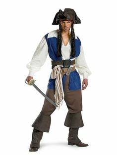 Captain Jack Sparrow Deluxe Costume | Mens Pirate Halloween Costumes