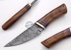 "8.75"" Custom Hand Beautiful Damascus Steel skinning hunting Knife (1029-1) #UltimateWarrior"