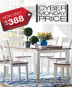 This 38 X 48 Rectangular Choices Dining Table Comes In Three Great Finishes Cyber Monday