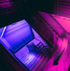 Imagen de purple, neon, and pink