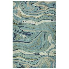 This Katarina Hand Tufted Wool Teal Area Rug is made of 100% space-dyed wool in India. This nature-inspired look is sure to be a conversation piece in any decor.
