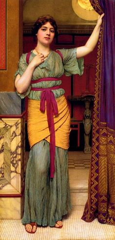 John William Godward (1861-1922)  A Pompeian Lady - 1916 Private collection