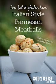 Italian Style Chicken Parmesan Meatballs Recipe - low fat, gluten free ...