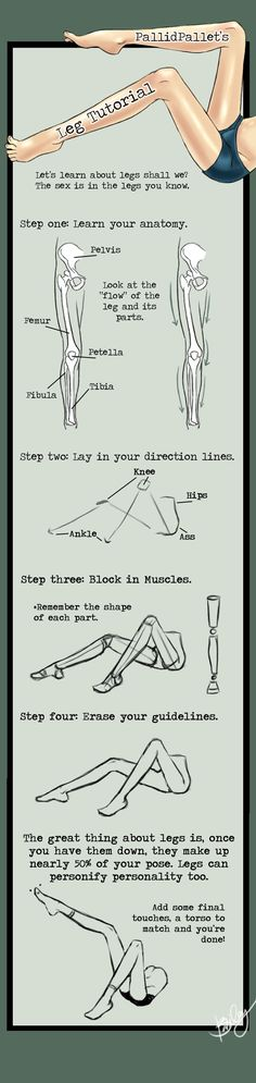 Legs Tutorial by ~KinderCollective on deviantART