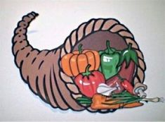 Our Printable Cornucopia can be printed in color for a quick cut and paste activity or in black and white to be colored by the children. Set up a separate area for the kids to work on this craft while you are putting final touches on the Thanksgiving feast. Your cornucopia will make a wonderful bulletin board or refrigerator decoration. #kids #printable #fun #cutandpaste #thanksgiving #food #parents #teachers #librarians #homeschool #unschool #edu