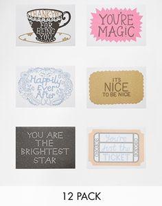 Hazel Nicholls Pack Of 12 Notecard Set