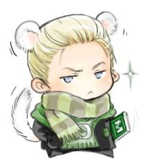 This is Q-Draco Malfoy-puppy by woshibbdou, but I think he looks more like a ferret. Cute! :)