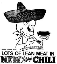 Libby's Chili ad - Mr. Magoo (1967)