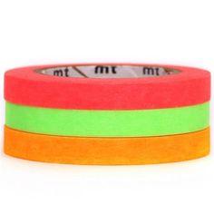 slim neon pink green mt Washi Masking Tape deco tape 3pcs mt Washi Tapes http://www.amazon.co.uk/dp/B00GXS4S3S/ref=cm_sw_r_pi_dp_r4bQwb1FH4QJB