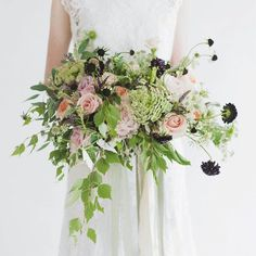 """Love My Dress® (Annabel) on Instagram: """"BREATHTAKING BLOOMS] How absolutely beautiful is this bouquet? Beautiful botanical art by @JosephMassieflowers. Styling by @TheWhiteCloset, photography by @emmapilkington. Full feature over on Love My Dress right now (LINK IN BIO) #beautifulblooms"""""""