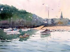 ilfracombe harbour north devon original watercolour by tim wilmot 343565 557x418 Tim Wilmot