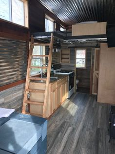 A tiny house that can be grounded or left on a movable trailer! Currently available for sale in Harriman, Tennessee!