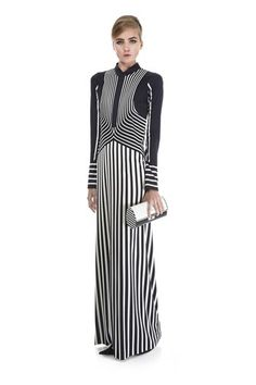 Marc Jacobs SS13 Silk Jersey Trompe l'Oeil Dress