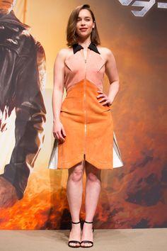 July 05: Terminator Genisys Tokyo Photocall - 0705 tgtokyophotocall 0004 - Adoring Emilia Clarke - The Photo Gallery