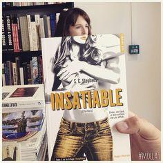 book face avec INSATIABLE (tome 2 de la trilogie Thoughtless), S.C. Stephens, éd. Hugo Roman #librairiemollat #mollat #deslibrairesàvotreservice